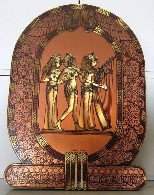 Magnifique plaque de cuivre